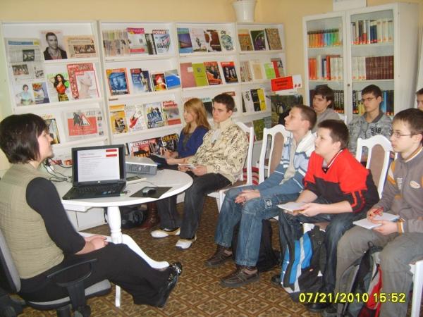 You are browsing images from the article: Warsztaty językowe w Bibliotece Austriackiej