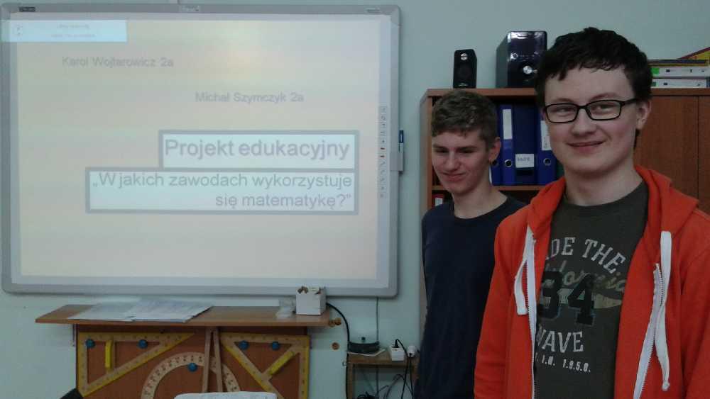You are browsing images from the article: 14.04.2016r. Projekt edukacyjny 'W jakich zawodach wykorzystuje się matematykę?'