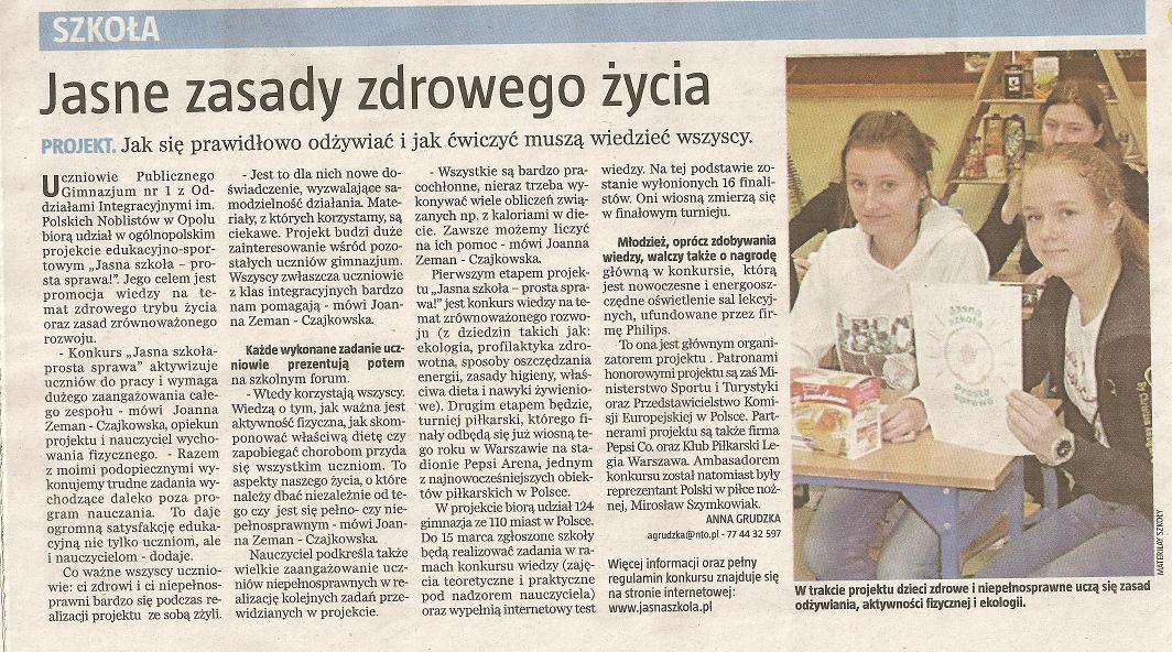You are browsing images from the article: Ogólnopolski projekt Jasna szkoła - prosta sprawa!