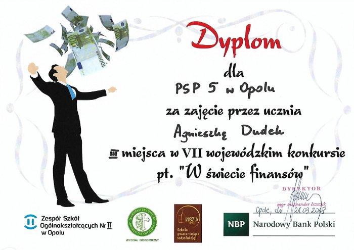 You are browsing images from the article: Konkurs 'W świecie finansów'- III miejsce Agnieszki!