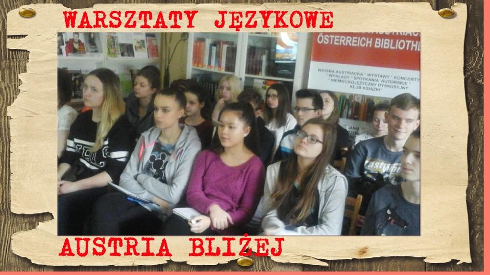 You are browsing images from the article: 09.03.2017 – Warsztaty językowe w Bibliotece Austriackiej: AUSTRIA BLIŻEJ